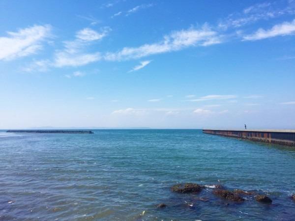 今年最初で最後じゃなかった、海!!! 入荷フランス、フレンチヴィンテージワークウエア モールスキンワークジャケット 黒とインクブルー_f0180307_16141351.jpg
