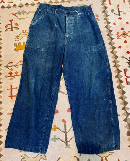 アメリカ仕入れ情報#8 40s U.S NAVY Denim pants!_c0144020_09554372.jpg