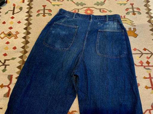 アメリカ仕入れ情報#8 40s U.S NAVY Denim pants!_c0144020_09571276.jpg