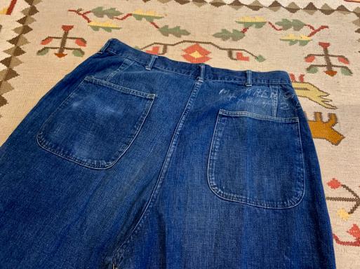 アメリカ仕入れ情報#8 40s U.S NAVY Denim pants!_c0144020_09574876.jpg