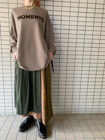 CHIGNONSTAR☆フロントバックロゴL/S T-SH☆_e0269968_18300431.jpg