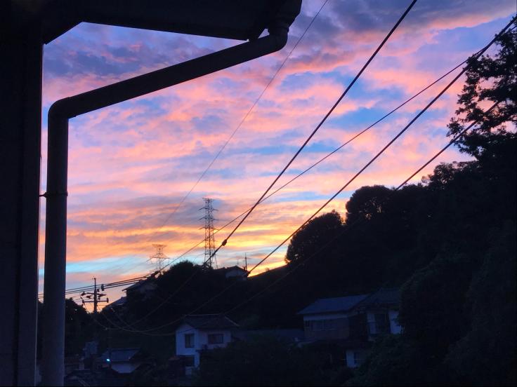 2019.9.7朝焼けと夕焼けが凄かったですね?!_b0174284_15384654.jpg