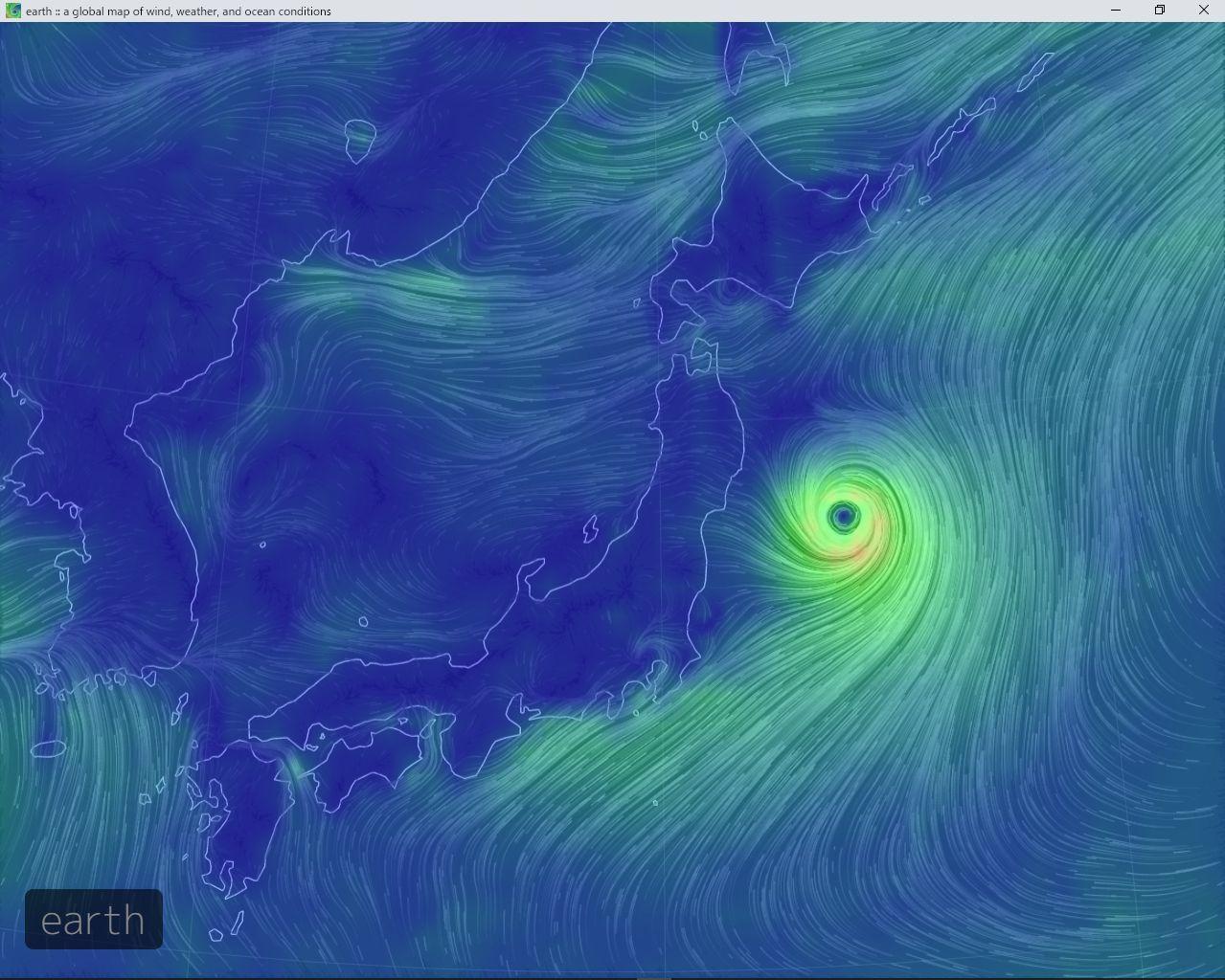 台風は東の海上へ_c0025115_22290404.jpg