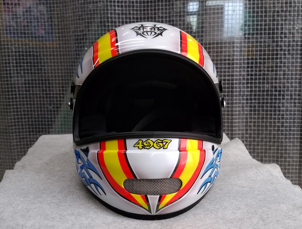 アライヘルメット謹製、競艇用のカーボンヘルメット入庫。その3、完成。_d0130115_13344106.jpg