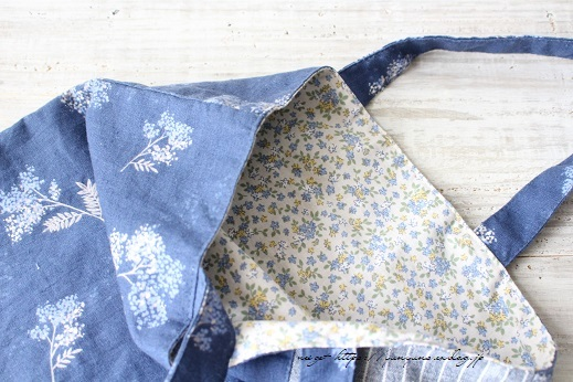 3枚の布でシンプルなA4サイズのぺタンコトート♪_f0023333_21585076.jpg