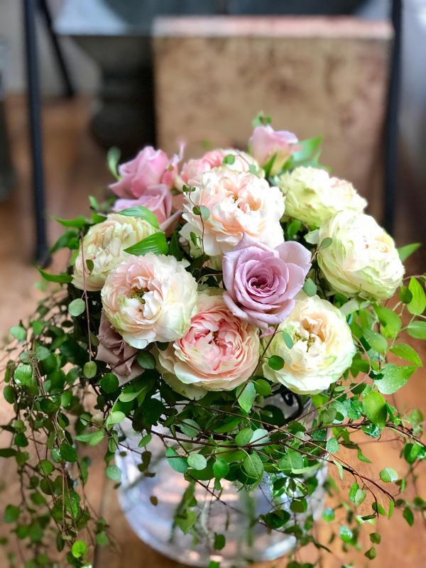 優しいアンティークカラーの薔薇で…_a0157813_17512372.jpg