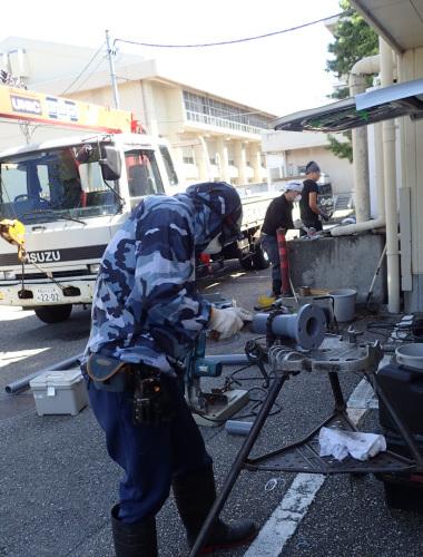 ヘルシーバス268様 排水熱交換器(温水器)取替工事_f0228240_14573192.jpg