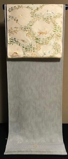 龍村名古屋帯・三眠御召と藤井絞小紋で2通りコーデ。_f0181251_19373306.jpg