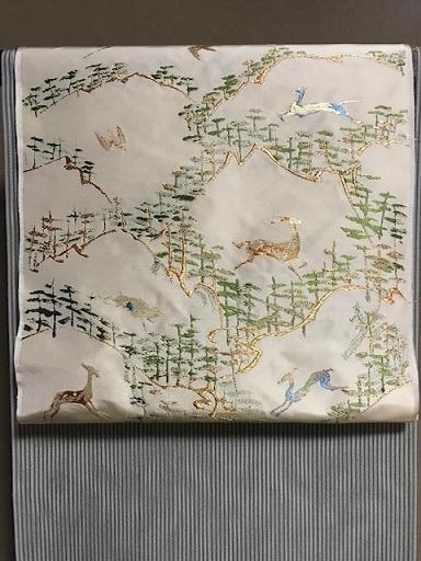 龍村名古屋帯・三眠御召と藤井絞小紋で2通りコーデ。_f0181251_19383442.jpg
