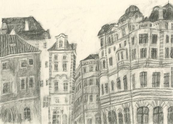 今日の絵 鉛筆で風景画_a0138978_22441588.jpg