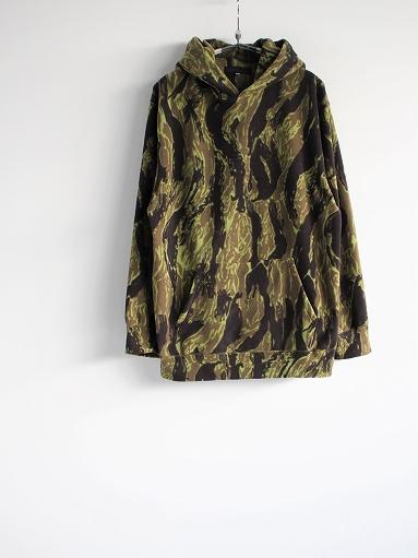 Needles Sportswear Warm-Up Hoodie - Poly Fleece / Tiger Camo Stripe_b0139281_1220571.jpg