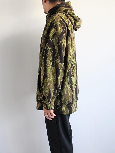 Needles Sportswear Warm-Up Hoodie - Poly Fleece / Tiger Camo Stripe_b0139281_12213290.jpg