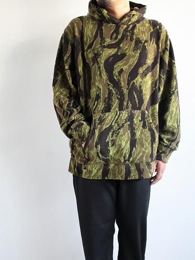 Needles Sportswear Warm-Up Hoodie - Poly Fleece / Tiger Camo Stripe_b0139281_1221358.jpg
