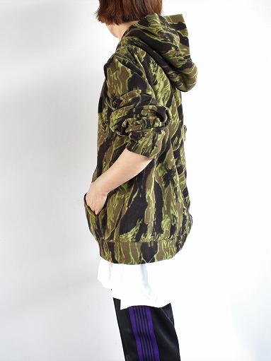 Needles Sportswear Warm-Up Hoodie - Poly Fleece / Tiger Camo Stripe_b0139281_12213716.jpg