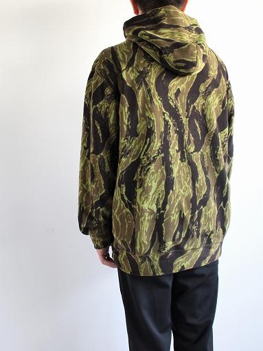 Needles Sportswear Warm-Up Hoodie - Poly Fleece / Tiger Camo Stripe_b0139281_12214216.jpg