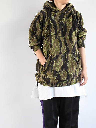 Needles Sportswear Warm-Up Hoodie - Poly Fleece / Tiger Camo Stripe_b0139281_1221717.jpg