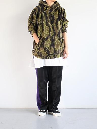 Needles Sportswear Warm-Up Hoodie - Poly Fleece / Tiger Camo Stripe_b0139281_1222945.jpg