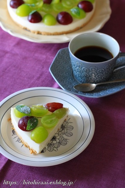 葡萄のレアチーズケーキ_f0374092_16043083.jpg