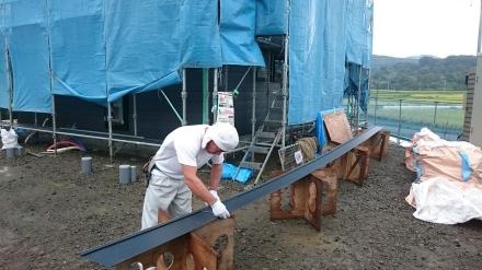 『方舟の家』外壁の板金工事が進んでいます。_e0197748_21203332.jpg