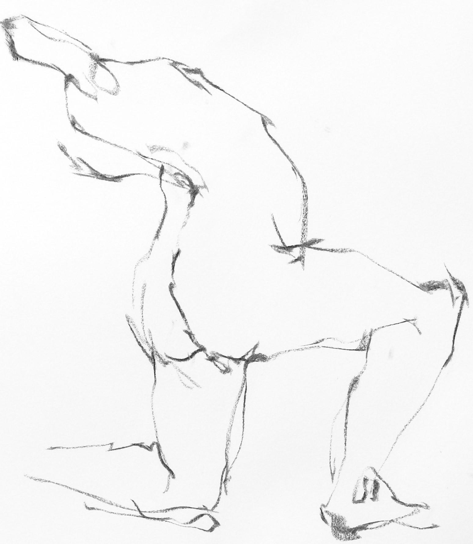 《  秋の始めの 裸婦線描 90秒 》1_f0159856_10562685.jpg