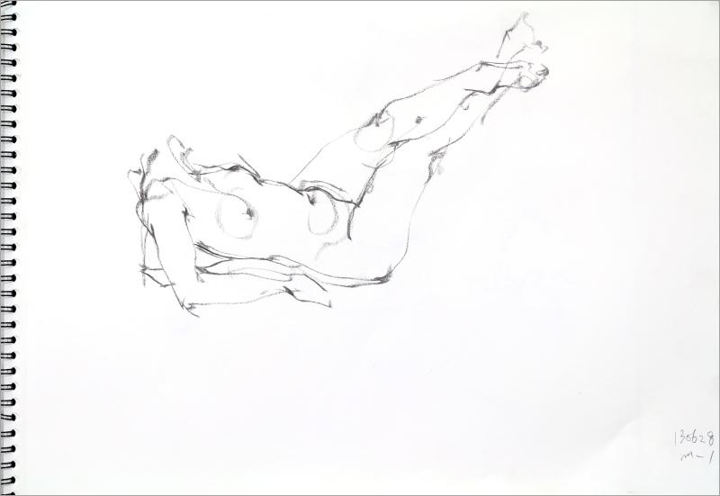 《  秋の始めの 裸婦線描 90秒 》2 _f0159856_19200098.jpg