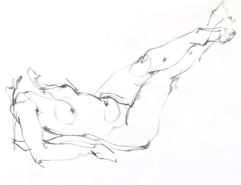 《  秋の始めの 裸婦線描 90秒 》2 _f0159856_19200884.jpg