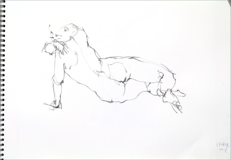 《  秋の始めの 裸婦線描 90秒 》3_f0159856_19270861.jpg