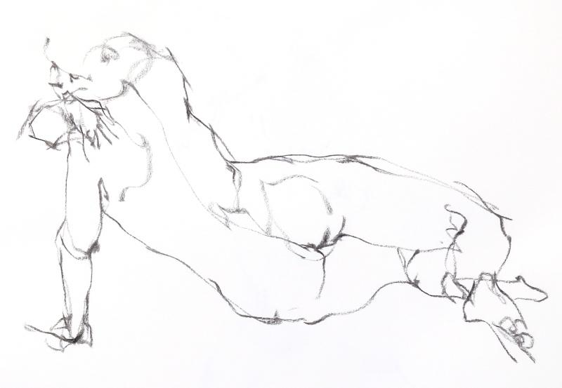 《  秋の始めの 裸婦線描 90秒 》3_f0159856_19271945.jpg