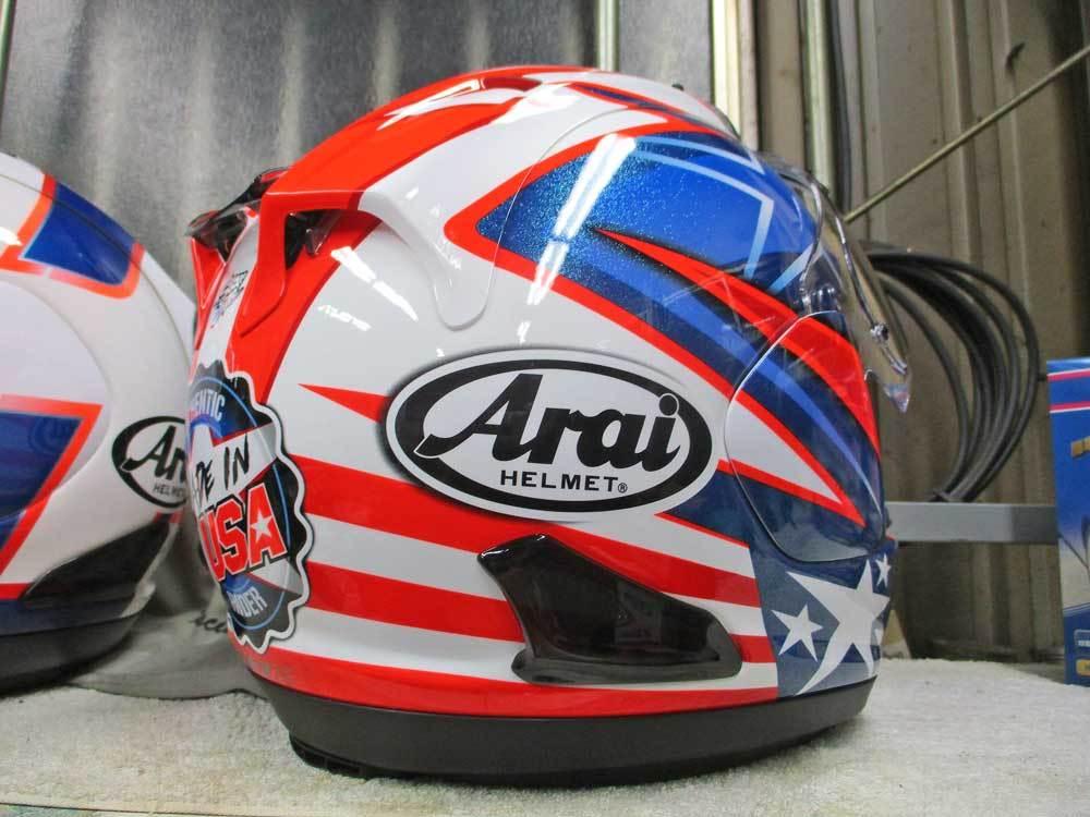 ヘルメットを新調でアライ RX-7Xがやっと入荷ーー!!ヽ(^。^)ノ_c0086965_20475208.jpg