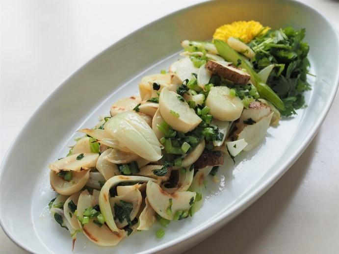 白の野菜の胡麻油和え_e0148373_15142040.jpg