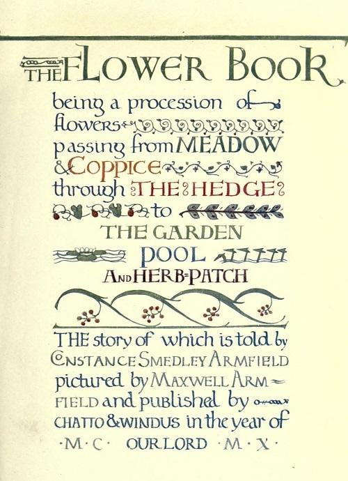 Maxwell Armfield画:The flower book①_c0084183_11093138.jpg