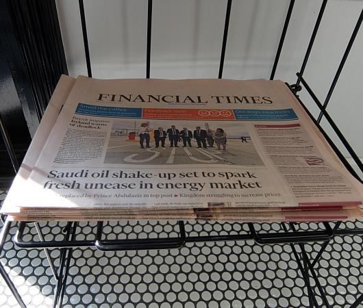 ニューヨークで無料で新聞(Financial Timesまで!)読めるお店_b0007805_03362732.jpg