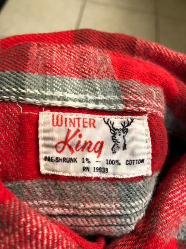 アメリカ仕入れ情報#15 60s Winter King all cotton マチ付きネル!_c0144020_11471888.jpg