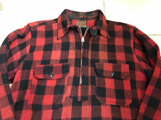 アメリカ仕入れ情報#16 30sマチ付き 扇Talon  zero Tex pullover wool shirts!_c0144020_11501135.jpg