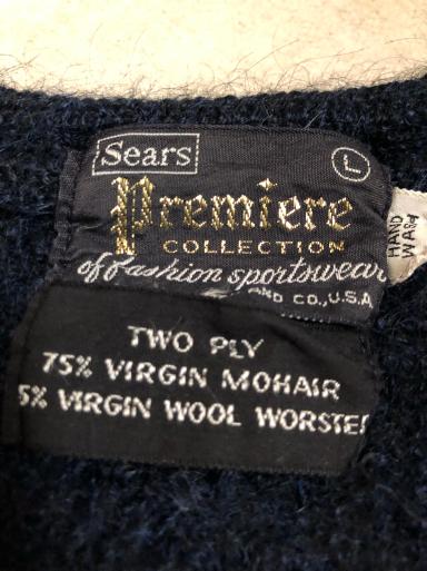 アメリカ仕入れ情報#19 60s Sears モヘアカーディガン_c0144020_12443827.jpg