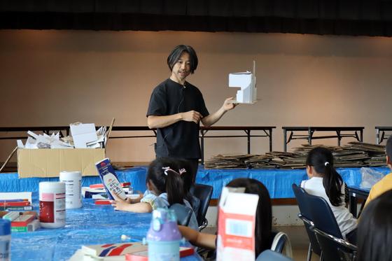やと子ども美術教室 ~  ダンボールでつくる立体 ~_e0222340_15381639.jpg