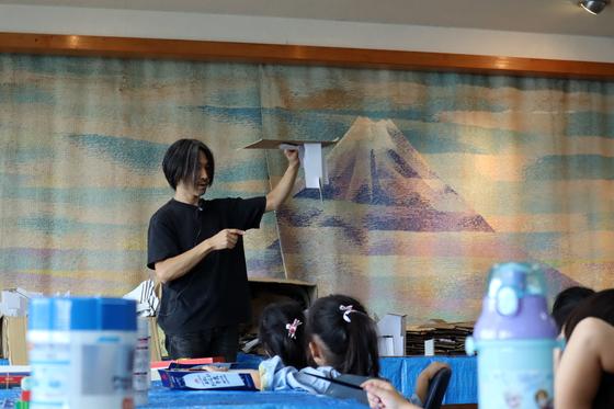 やと子ども美術教室 ~  ダンボールでつくる立体 ~_e0222340_1544736.jpg