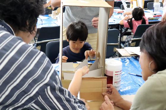 やと子ども美術教室 ~  ダンボールでつくる立体 ~_e0222340_15532770.jpg