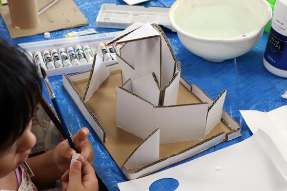 やと子ども美術教室 ~  ダンボールでつくる立体 ~_e0222340_15554176.jpg