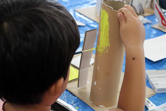 やと子ども美術教室 ~  ダンボールでつくる立体 ~_e0222340_15561012.jpg