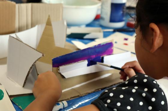 やと子ども美術教室 ~  ダンボールでつくる立体 ~_e0222340_15565836.jpg