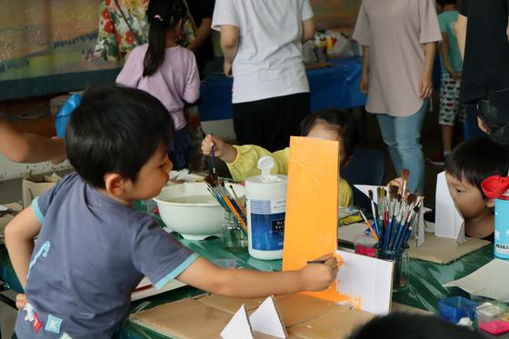やと子ども美術教室 ~  ダンボールでつくる立体 ~_e0222340_15575063.jpg