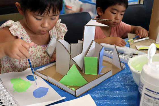 やと子ども美術教室 ~  ダンボールでつくる立体 ~_e0222340_15584859.jpg