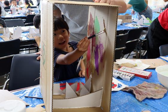 やと子ども美術教室 ~  ダンボールでつくる立体 ~_e0222340_15593346.jpg