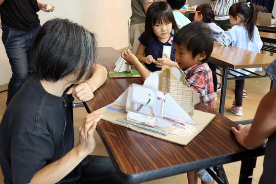 やと子ども美術教室 ~  ダンボールでつくる立体 ~_e0222340_16105964.jpg