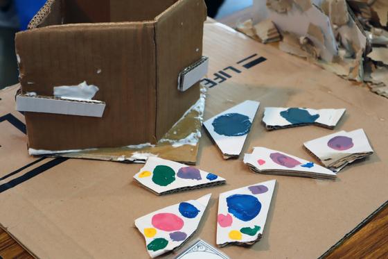 やと子ども美術教室 ~  ダンボールでつくる立体 ~_e0222340_16113640.jpg