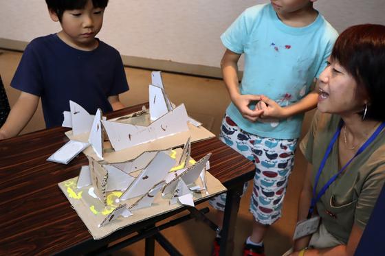やと子ども美術教室 ~  ダンボールでつくる立体 ~_e0222340_1661671.jpg