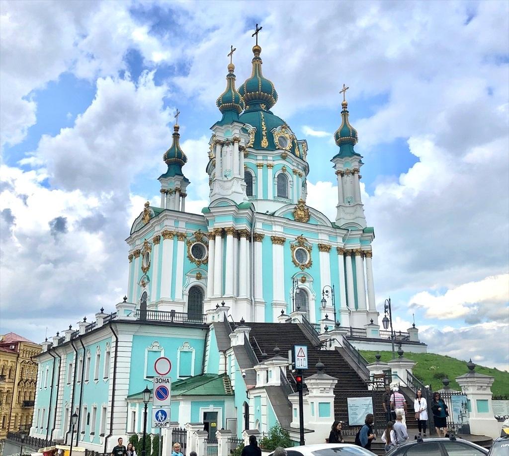 アンドレイ教会@キエフ/ウクライナ_a0092659_18022984.jpg