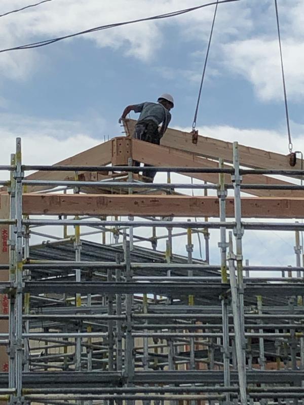 建て方開始(N教会)_d0086022_16563730.jpg