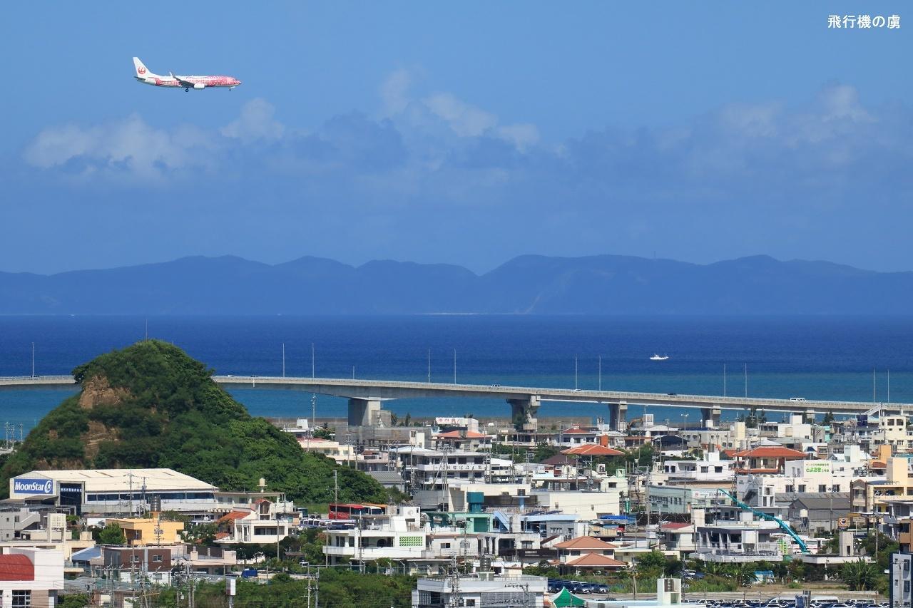 小高い丘 と MoonStar  さくらジンベエ  日本トランスオーシャン航空(NU)_b0313338_01280940.jpg